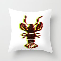 Lobster Confusion Throw Pillow