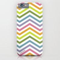 Rainbow chevrons iPhone 6 Slim Case