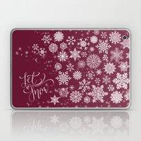 Let It Snow - Berry Laptop & iPad Skin