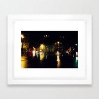 Cool Parisian Evening Framed Art Print
