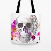 Braided Skull Tote Bag