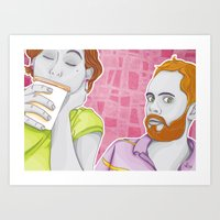 Funny Couple Art Print