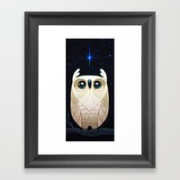Starla The Owl Framed Art Print