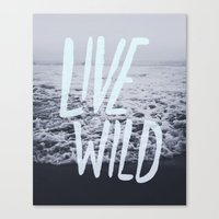 Live Wild: Ocean Canvas Print
