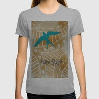 Take Flight Womens Fitted Tee Athletic Grey SMALL