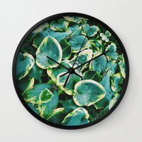 50 Shades Of Green (7) Wall Clock