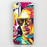 iPhone & iPod Skin featuring Chris Brown by Nechifor Ionut