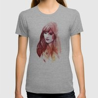 A Piece Of Happiness Womens Fitted Tee Athletic Grey SMALL