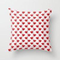 Hearts Galore! Throw Pillow