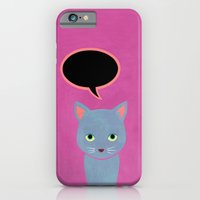 iPhone & iPod Case featuring cat -Alice by leeem