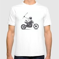 Guerilla Biker Mens Fitted Tee White SMALL