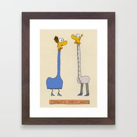 Tonight's Party Night Framed Art Print