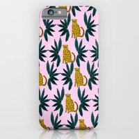 iPhone & iPod Case featuring Cheetah and Leaves by Bouffants and Broken Hearts
