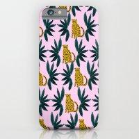 Cheetah And Leaves iPhone 6 Slim Case