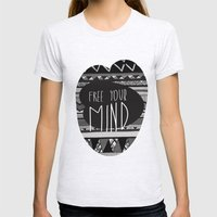FREE YOUR MIND Womens Fitted Tee Ash Grey SMALL
