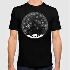 Snow Globe Mens Fitted Tee Black SMALL