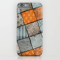 iPhone & iPod Case featuring Vintage Material Quilt by rollerpimp