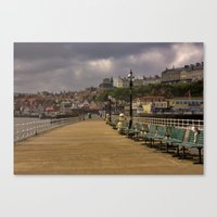 Walkway Along the Harbour Canvas Print