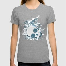 Death comes calling Womens Fitted Tee Tri-Grey SMALL