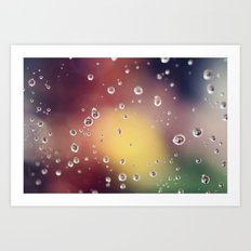 Raindrops II Art Print