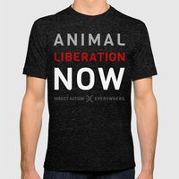 Liberation Now Mens Fitted Tee Tri-Black SMALL