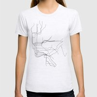 New York Subway Womens Fitted Tee Ash Grey SMALL