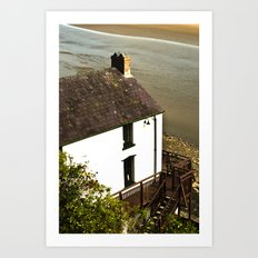 Dylan Thomas Boathouse Art Print