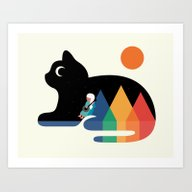 Art Print featuring Moonlight Serenade by Andy Westface