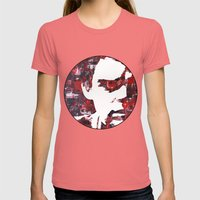 Dark Passenger Womens Fitted Tee Pomegranate SMALL