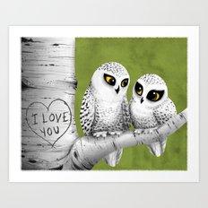 Owl Love You Art Print