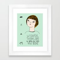 Wishful Thinking... Framed Art Print