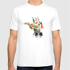Boba Fett Print Mens Fitted Tee White SMALL