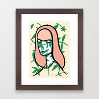 Plant Girl Framed Art Print