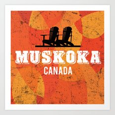 Muskoka Chairs Art Print