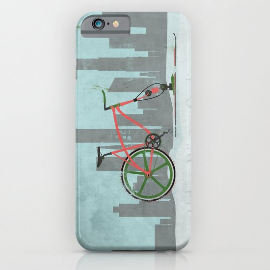 Urban Winter Cycling iPhone & iPod Case
