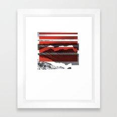 Red Terrain Framed Art Print