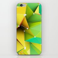 Polygons green Abstract iPhone & iPod Skin