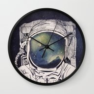 Wall Clock featuring Dreaming Of Space by Tracie Andrews