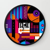 Music Mosaic Wall Clock