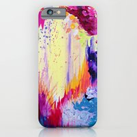 IN TIMES OF CHAOS - Intense Nature Abstract Acrylic Painting Wild Rainbow Volcano Waves Fine Art  iPhone 6 Slim Case