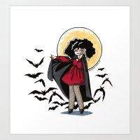 Marjorie the Little Vampire Art Print