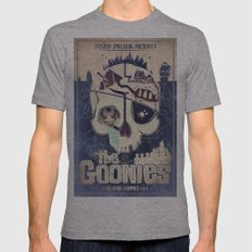 Goonies Mens Fitted Tee Athletic Grey SMALL