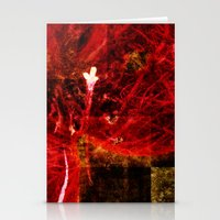 Astral flower Stationery Cards