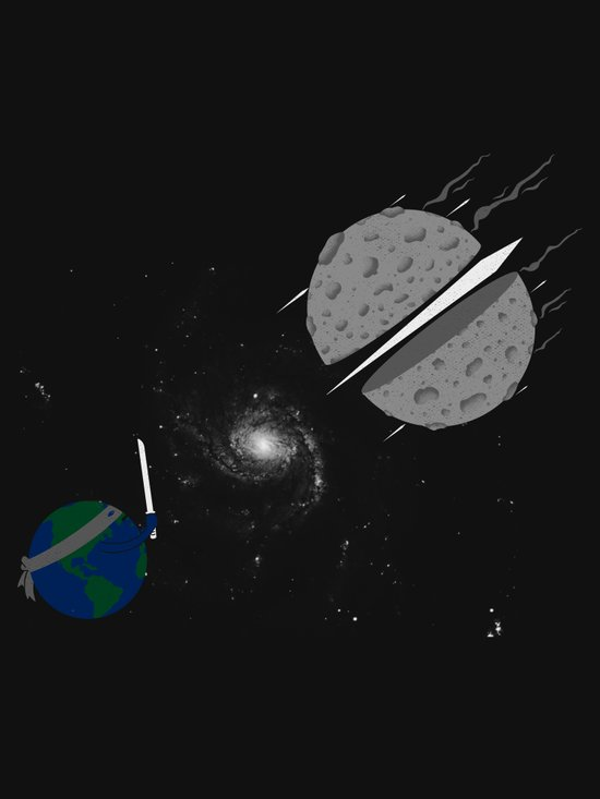 Asteroid Ninja Art Print