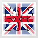 LONDON Union Jack Art Print