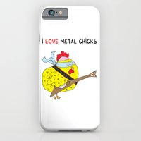 iPhone Cases featuring I love metal chicks by Adrian Serghie