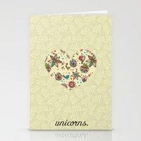 Black Unicorn Stationery Cards