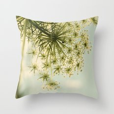 Botanical Queen Anne's Lace Throw Pillow