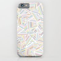 iPhone & iPod Case featuring Abstraction Linear Rainbow by Project M
