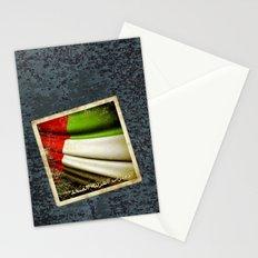 Grunge sticker of United Arab Emirates flag Stationery Cards